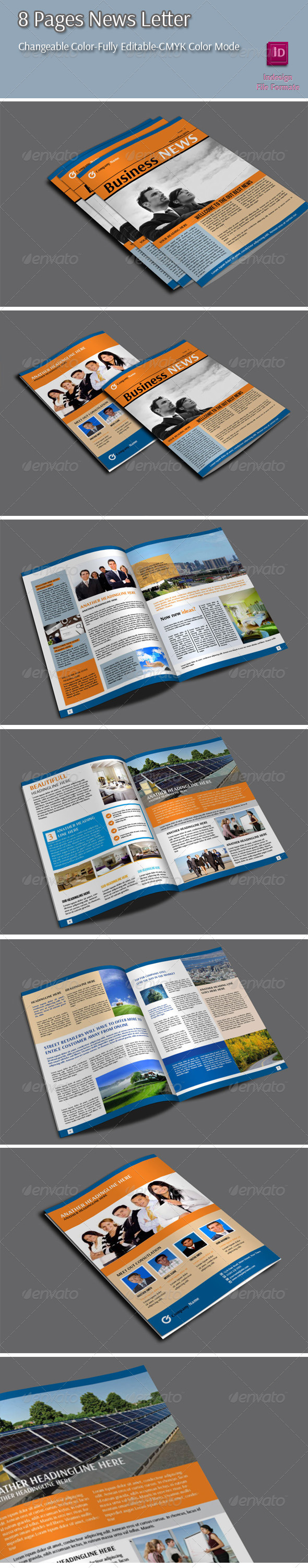 8 Pages Newletter - Newsletters Print Templates