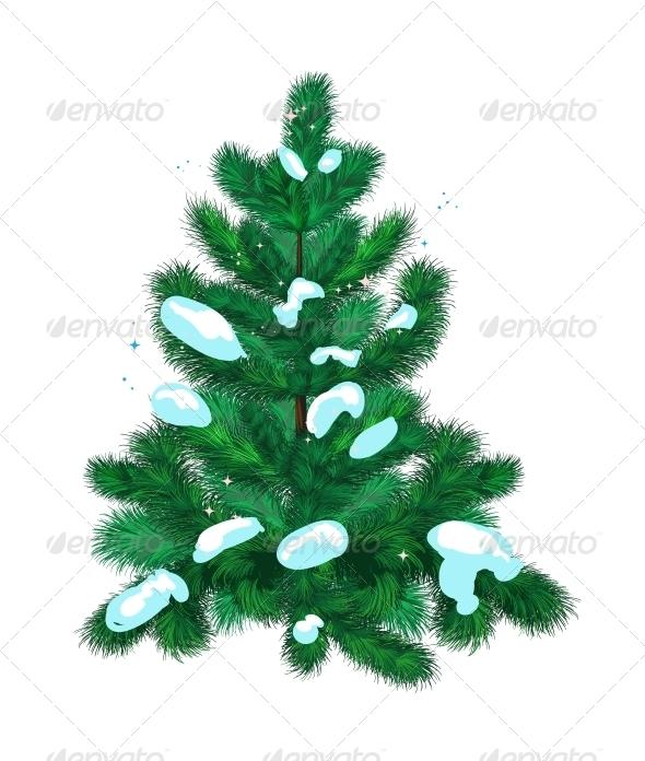 Fir-Tree with Snow - Christmas Seasons/Holidays