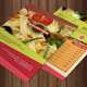A4 Healthy Food Menu + Poster + Flyer + Cards - GraphicRiver Item for Sale
