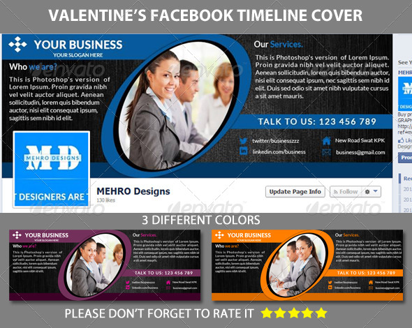 Corporate Business Timeline Cover - Facebook Timeline Covers Social Media