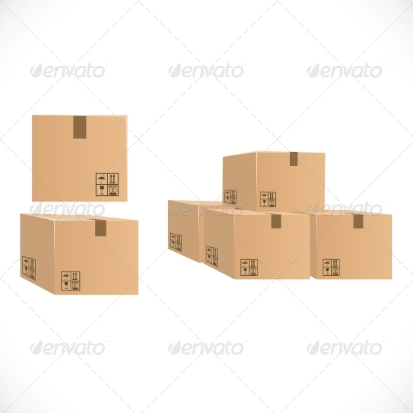 Packing Boxes for Shipping - Man-made Objects Objects