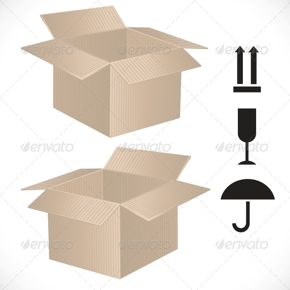 Package Box with Sign - Man-made Objects Objects