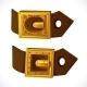 Gold Buckle on Brown Belt