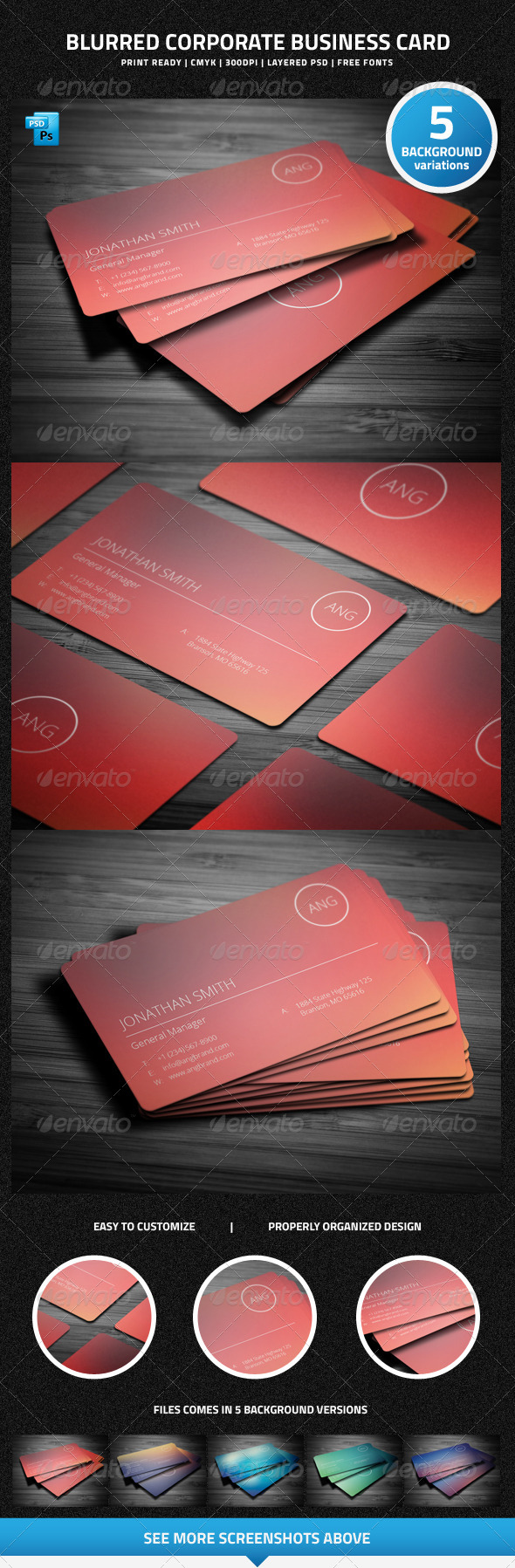 Blurred Corporate Business Card - 22 - Creative Business Cards