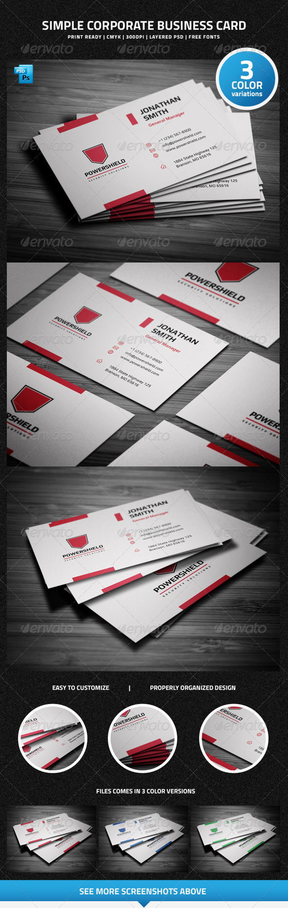 Simple Corporate Business Card - 21 - Corporate Business Cards