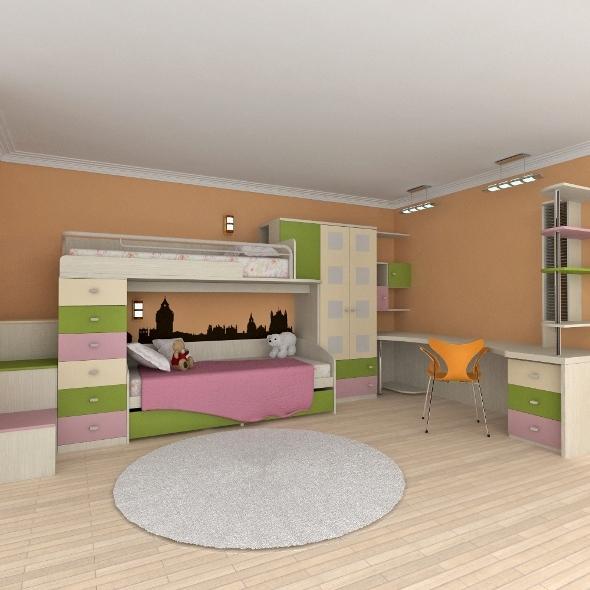 Child's Bedroom Furniture Set - 3DOcean Item for Sale