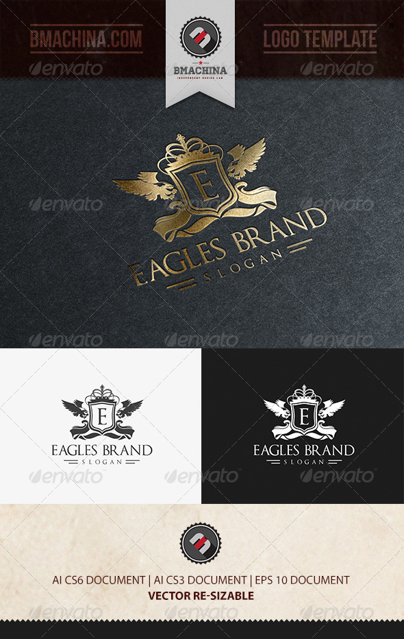 Eagles Brand Logo Template - Crests Logo Templates