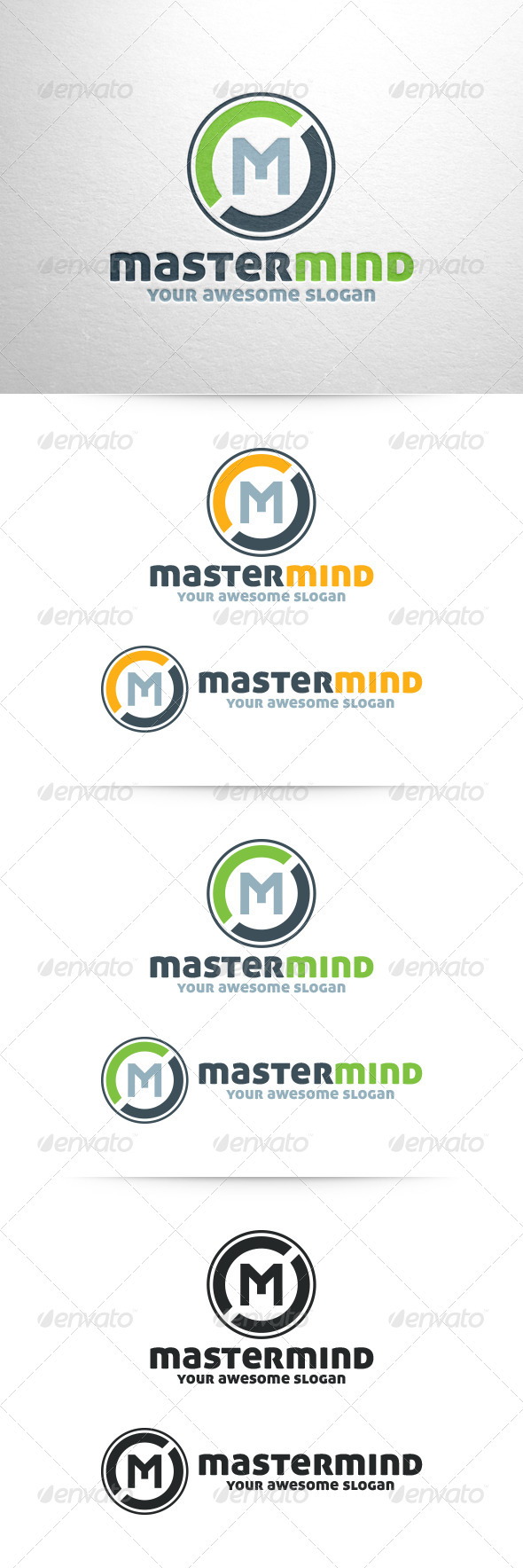 Master Mind - Letter M Logo Template - Letters Logo Templates