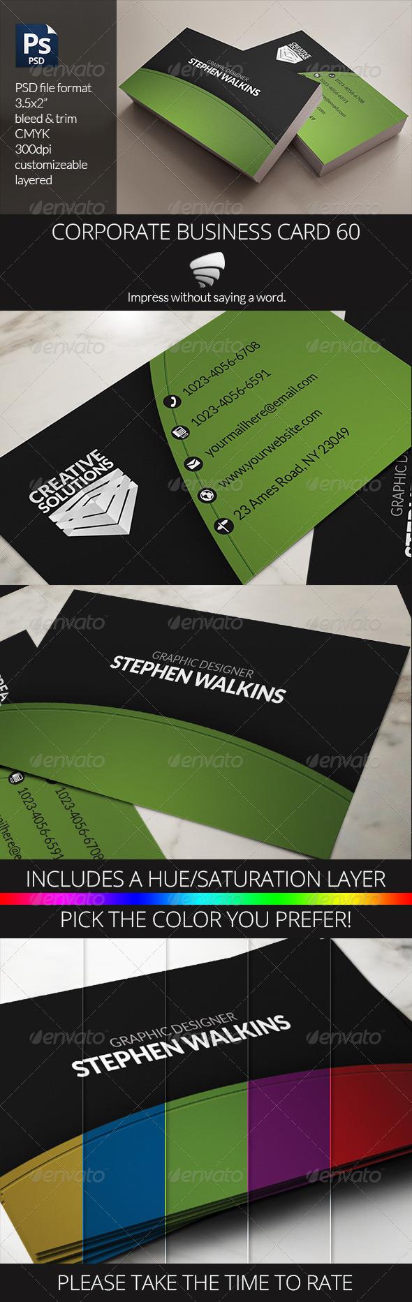 Corporate Business Card 60 - Corporate Business Cards
