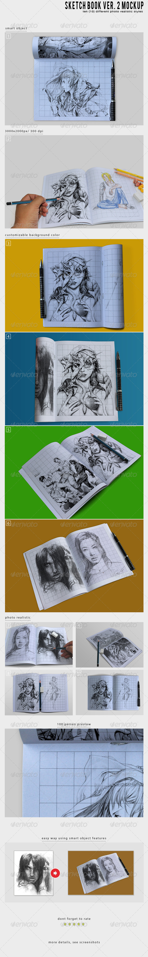 Sketch Book Ver. 2 Mockup - Miscellaneous Print