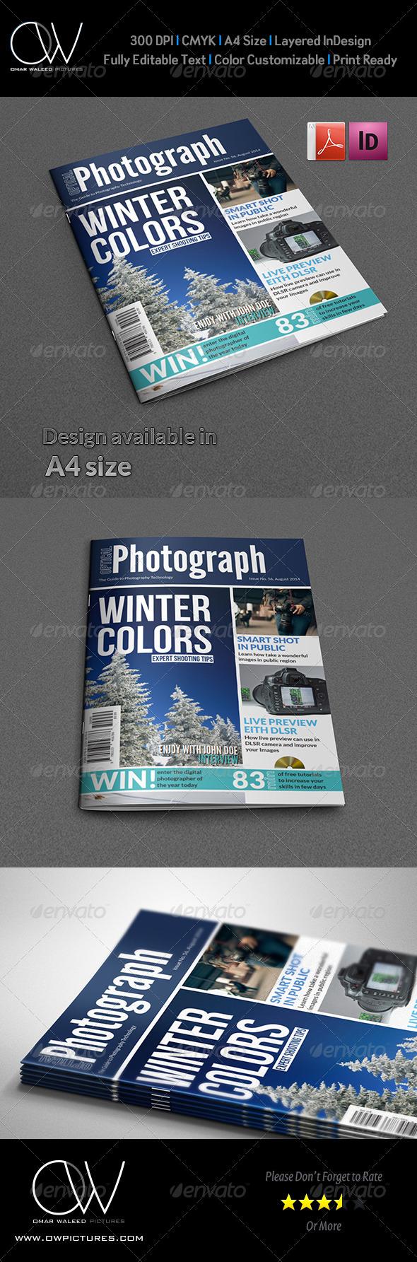 Photographer Magazine Cover Template Vol.2 - Magazines Print Templates