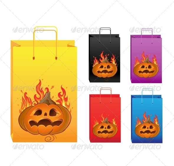 Halloween Color Shopping Bags - Man-made Objects Objects