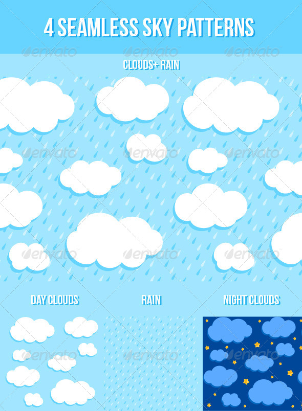 Sky Seamless Patterns - Patterns Decorative