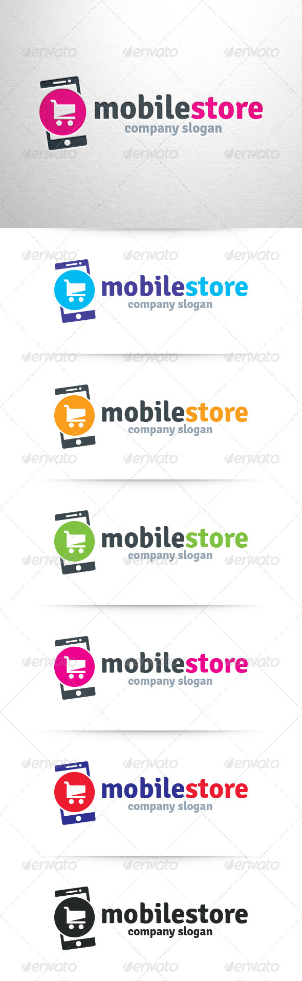 Mobile Store Logo Template - Objects Logo Templates