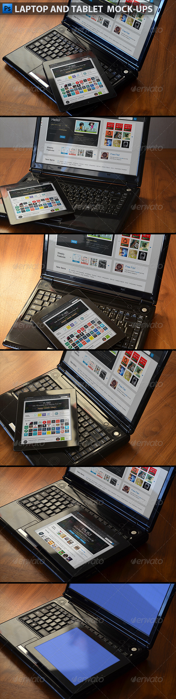 Laptop and Tablet Display Mock-Ups - Displays Product Mock-Ups