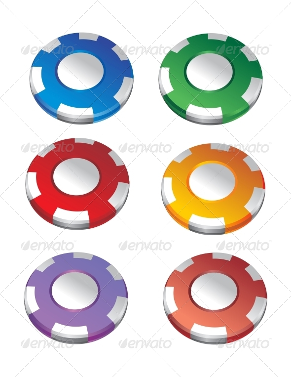 Color Casino Chips - Man-made Objects Objects