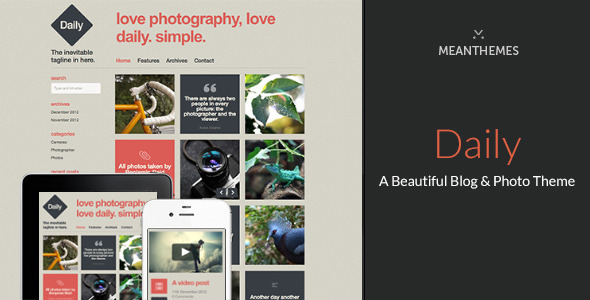 Daily - A Beautiful WordPress Blog & Photo theme