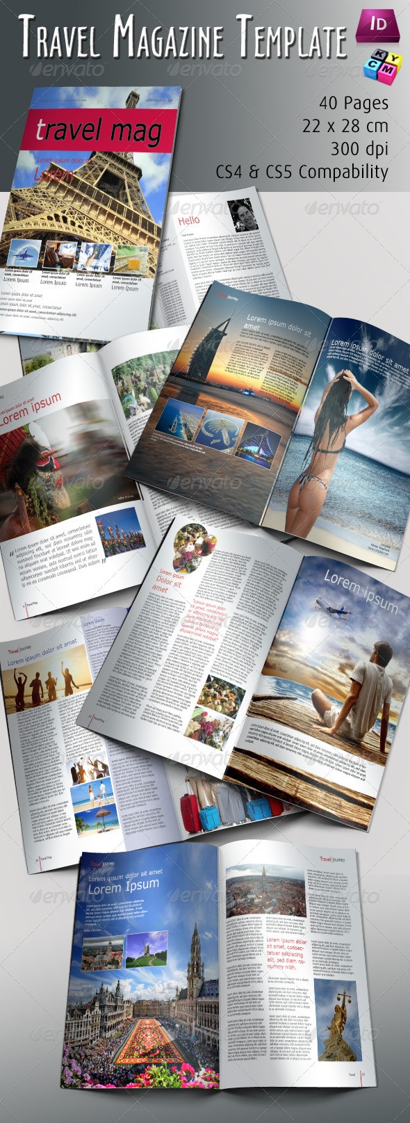 Travel Magazine Template - Magazines Print Templates