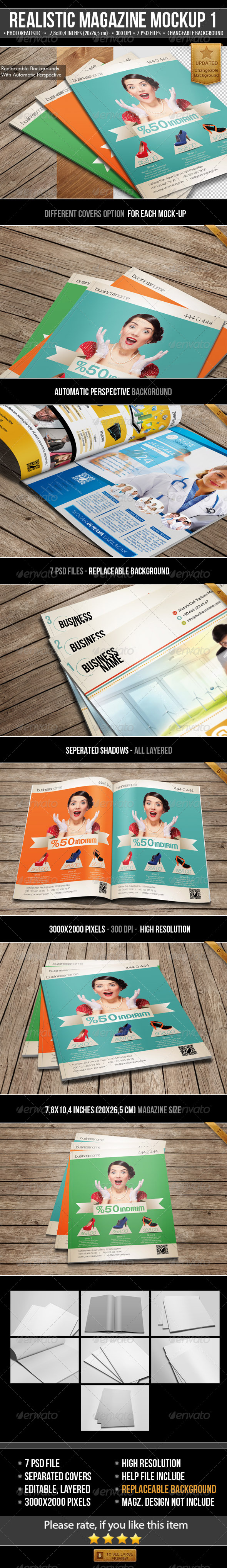 Realistic Magazine Mock-Ups - Magazines Print