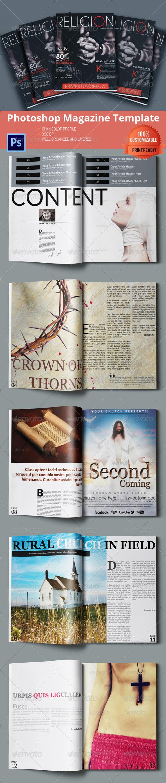 Religion - Magazine Template - Magazines Print Templates
