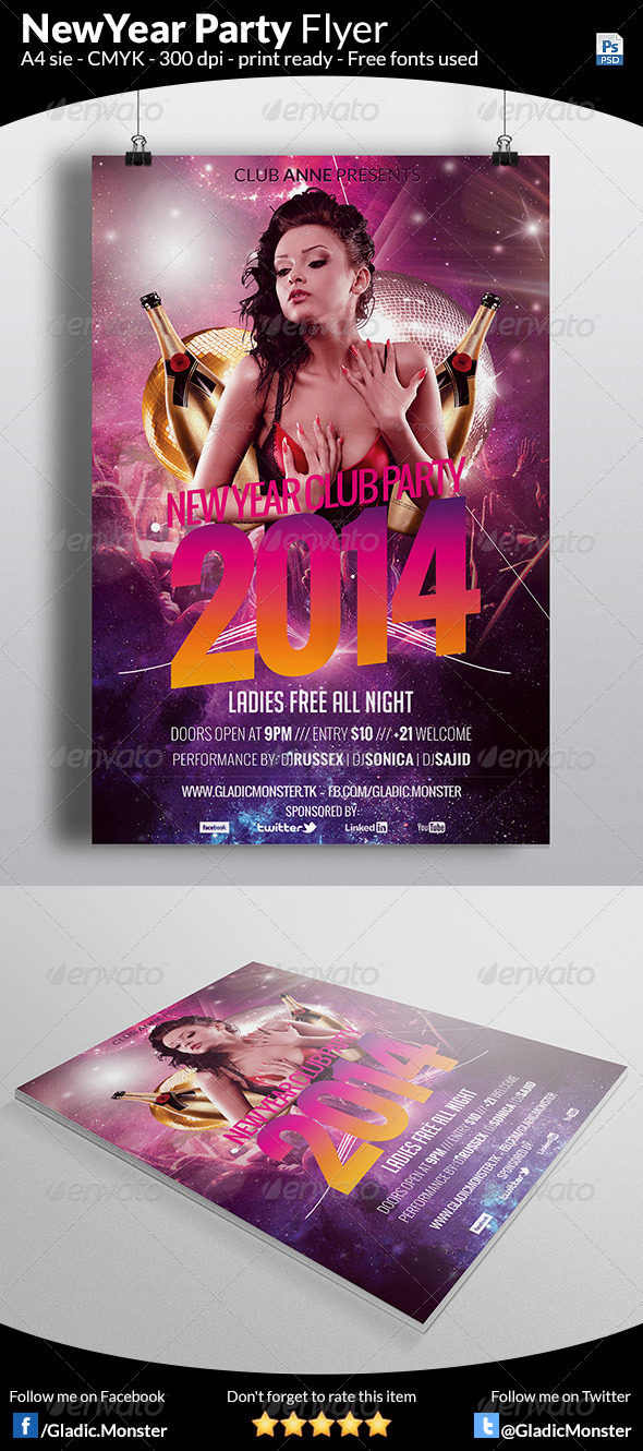 New Year Bash Flyer - Clubs & Parties Events