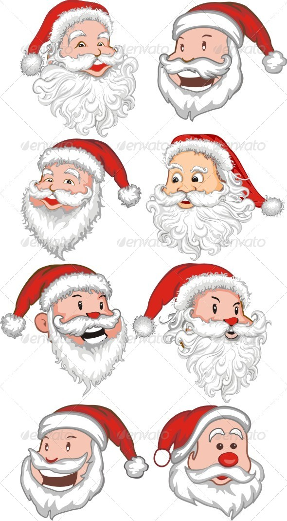 Santa Claus Set - People Characters