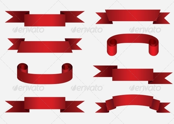 Red Banners - Borders Decorative