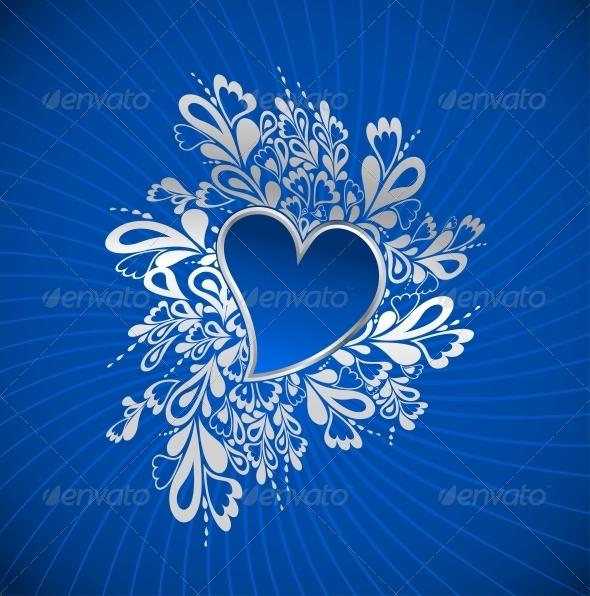 Blue Heart to the St.Valentine - Valentines Seasons/Holidays