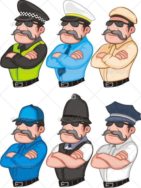 Police Set - People Characters
