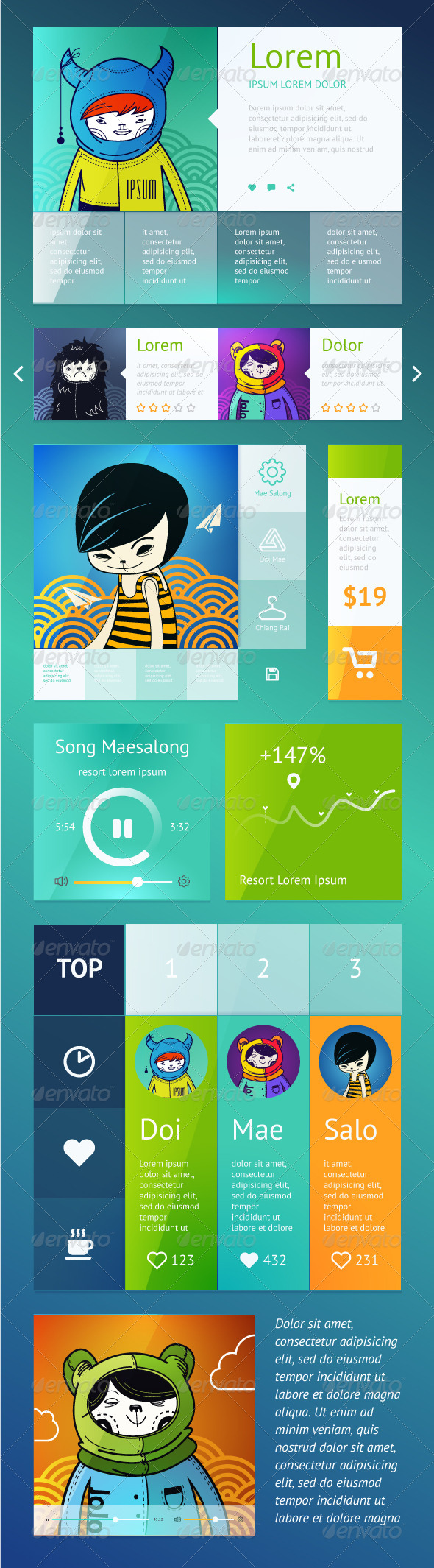 UI is a Set of Components Featuring - Web Technology