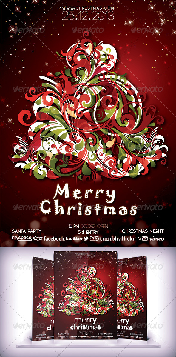 Christmas Night Flyer - Print Templates