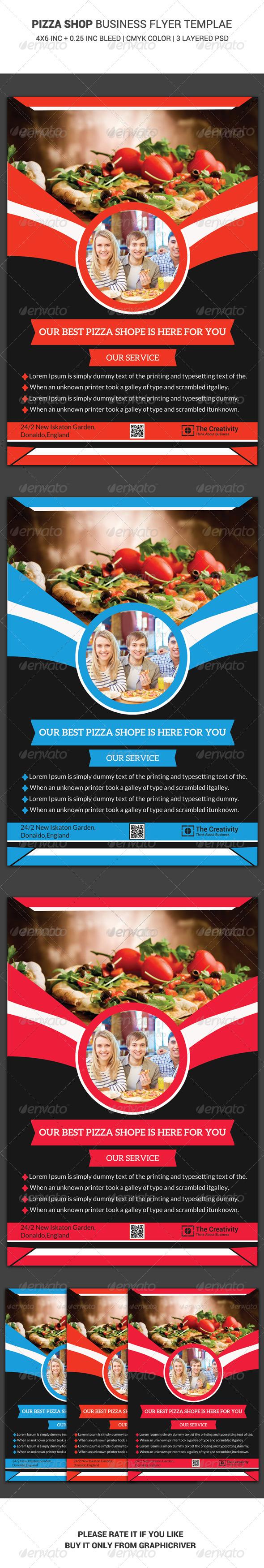 Pizza Shop Business Flyer Template