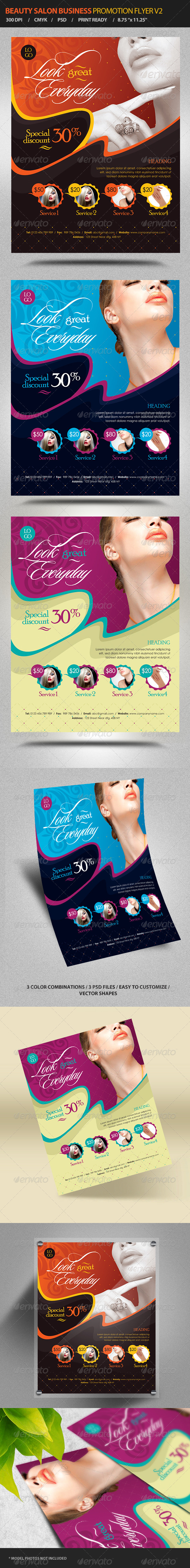 Beauty Salon Business Promotion Flyer Vol 2 - Corporate Flyers