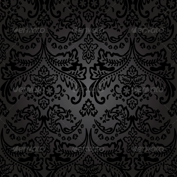 Damask Vintage Floral Seamless Pattern Background. - Patterns Decorative
