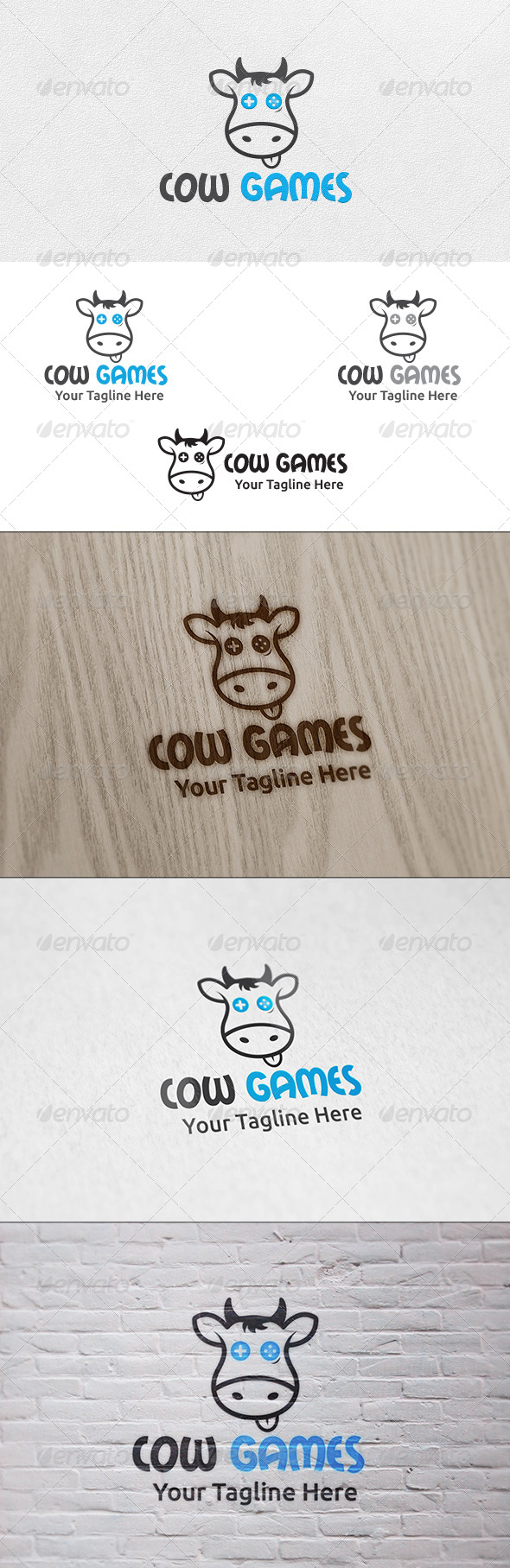 Cow Games - Logo Template - Animals Logo Templates