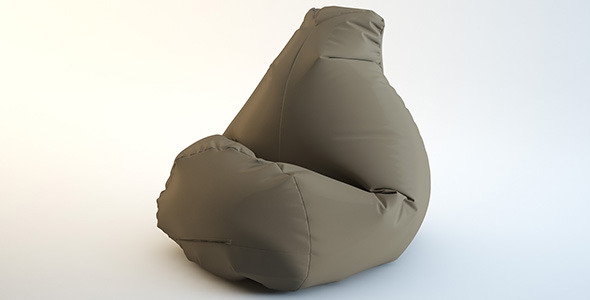 Sacco pouf seating - 3DOcean Item for Sale