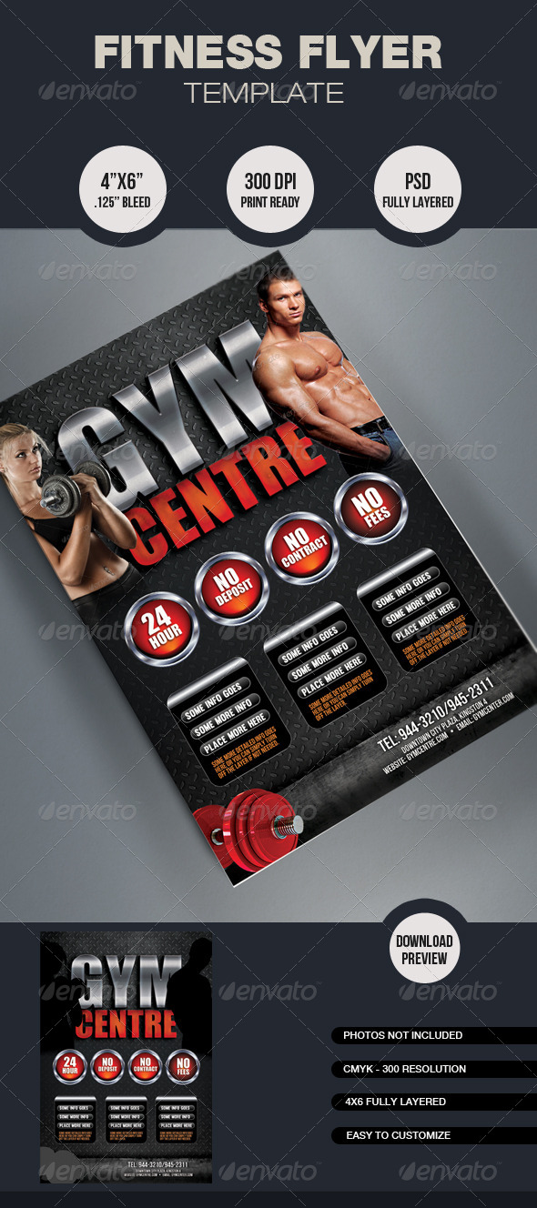 Fitness Flyer Template By Mixmedia  Graphicriver
