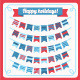 Set of Bunting and Garland. - GraphicRiver Item for Sale