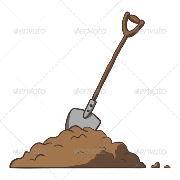 Shovel in Dirt - Man-made Objects Objects