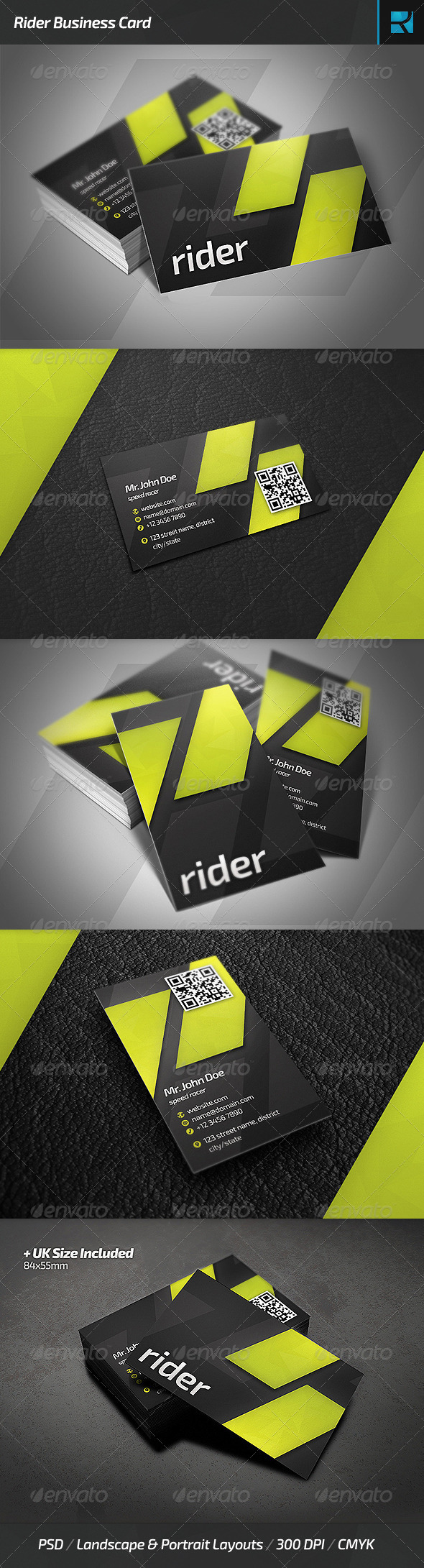 Rider Business Card - Corporate Business Cards