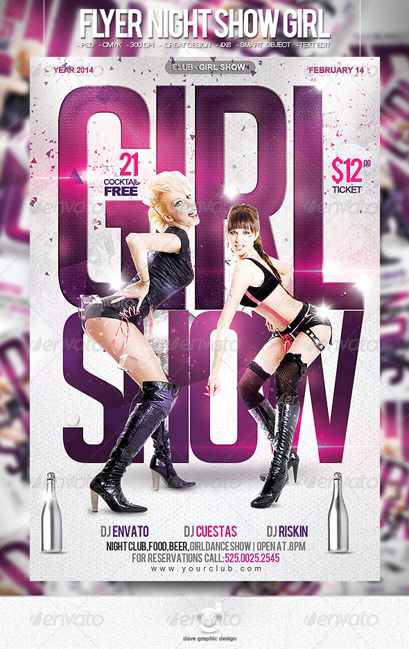 Flyer Night Show Girls - Clubs & Parties Events