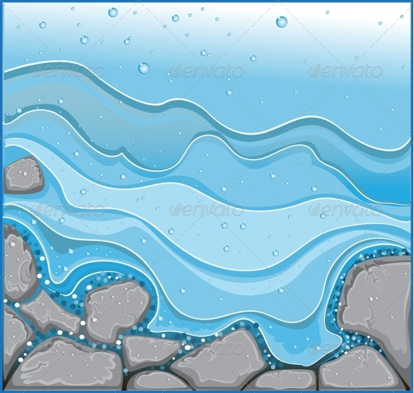 Water Stream with Rocks - Miscellaneous Vectors