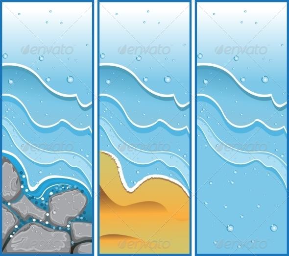 Aqua Banners - Miscellaneous Vectors