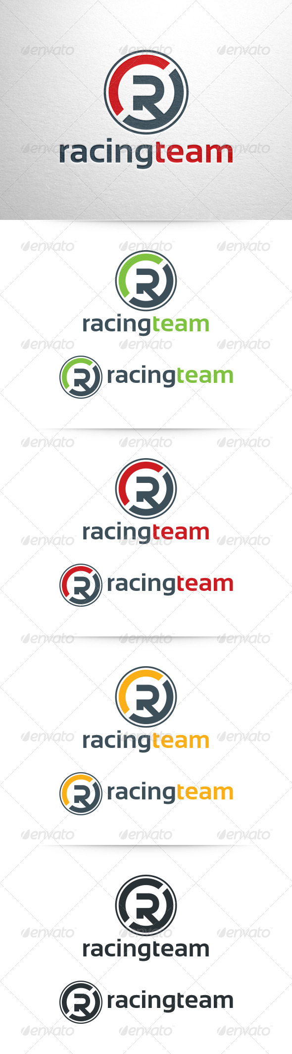 Racing Team - Letter R Logo Template - Letters Logo Templates