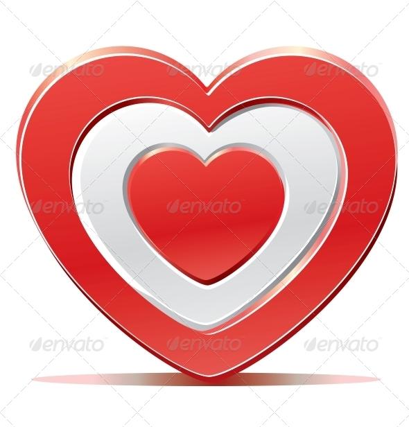 Red Heart Target  - Valentines Seasons/Holidays