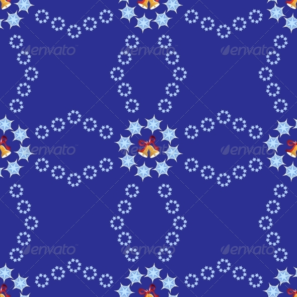Christmas Background with Bells and Snowflakes - Miscellaneous Seasons/Holidays