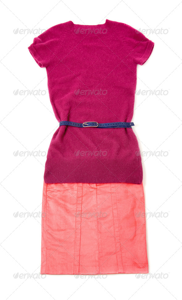 Pink purple still life fashion composition - Stock Photo - Images