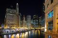Chicago River at Dusk - PhotoDune Item for Sale