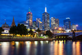 Melbourne's Skyline At Dusk - PhotoDune Item for Sale