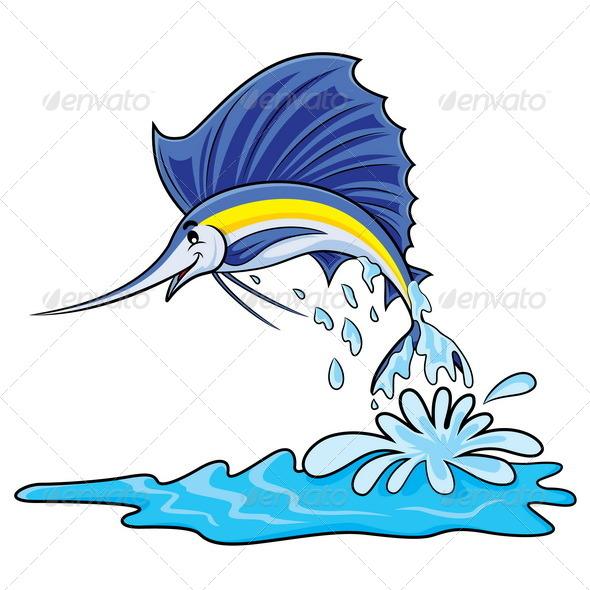 Marlin Fish Cartoon - Animals Characters